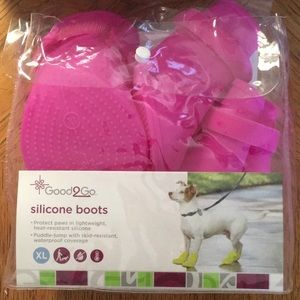Good2Go Pet Dog Hot Pink Silicone Boots - Size XL